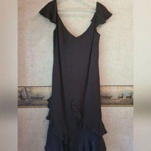 Escada | 90s Vintage Polka Dots Ruffled Dress 40